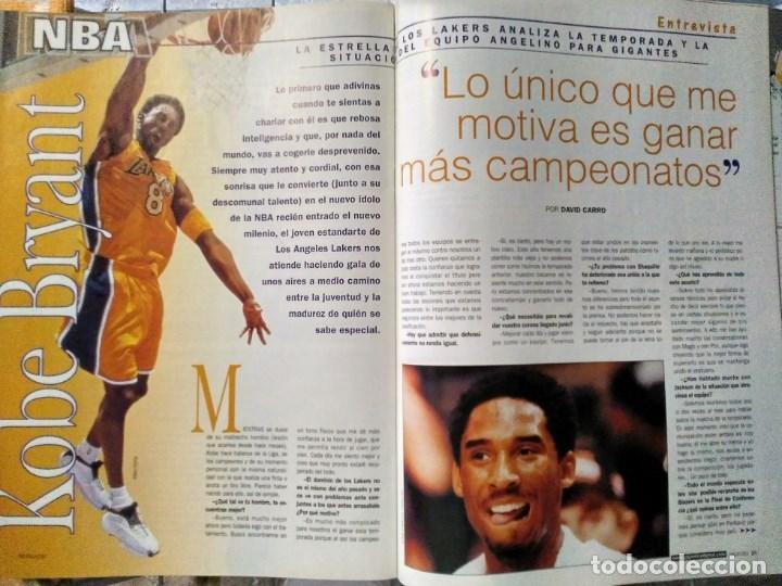 Coleccionismo deportivo: Kobe Bryant - 9 revistas ''Gigantes del basket'' (1997-2003) - NBA - Foto 6 - 130455462