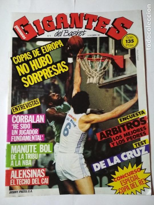 REVISTA GIGANTES DEL BASKET Nº 6 - 16 DICIEMBRE 1985 ( POSTER MANUTE BOL) (Coleccionismo Deportivo - Revistas y Periódicos - otros Deportes)