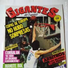 Coleccionismo deportivo: REVISTA GIGANTES DEL BASKET Nº 6 - 16 DICIEMBRE 1985 ( POSTER MANUTE BOL) . Lote 130529978