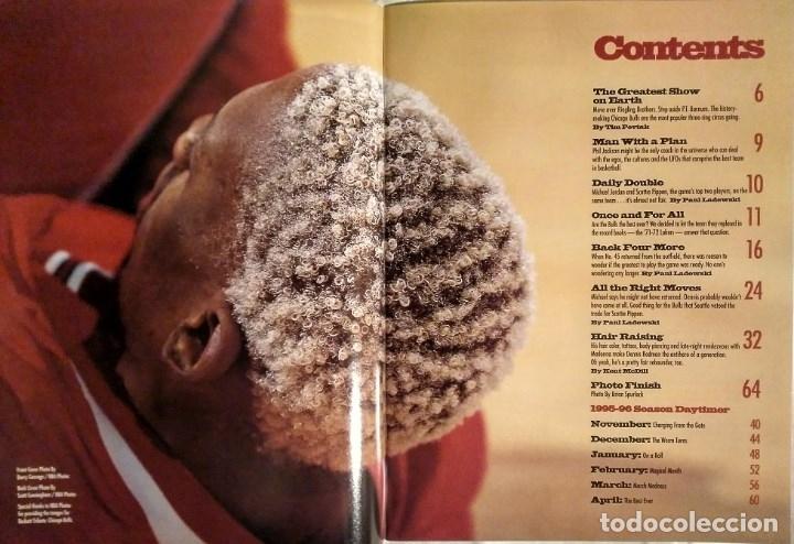 Coleccionismo deportivo: Michael Jordan - Revista especial de la temporada del récord 72-10 (1996) - NBA - Foto 2 - 130642782
