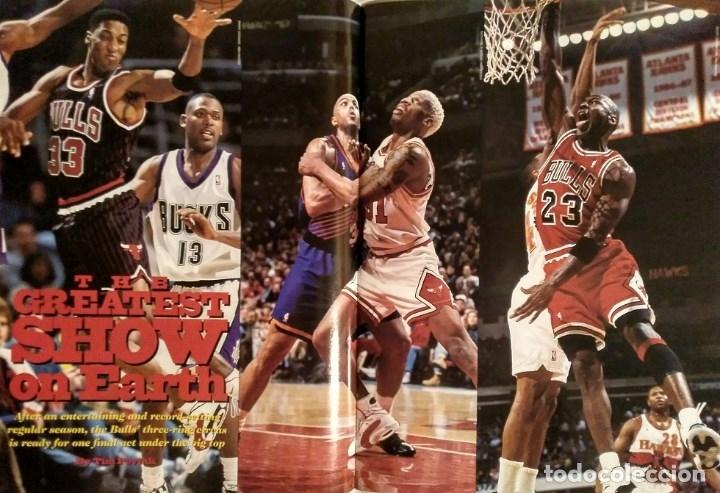 Coleccionismo deportivo: Michael Jordan - Revista especial de la temporada del récord 72-10 (1996) - NBA - Foto 3 - 130642782