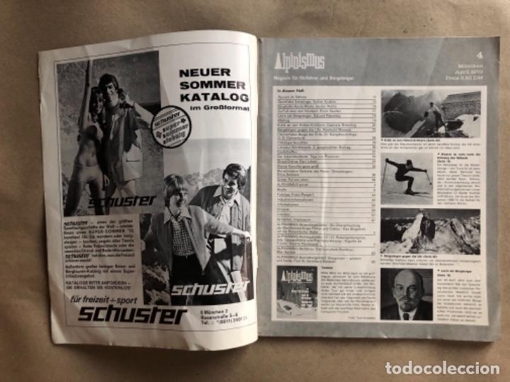 Coleccionismo deportivo: ALPINISMUS, ABRIL 1970. REVISTA DE ALPINISMO ALEMANA. - Foto 2 - 132109798