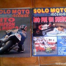 Coleccionismo deportivo: LOTE DE REVISTAS SOLO MOTO NUMEROS,648 Y 695 . Lote 132188982
