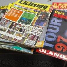 Coleccionismo deportivo: CICLISMO A FONDO / LOTE CON 11 REVISTAS MÁS GUÍA MARCA TOUR 97 / AÑOS 1989 - 1997. Lote 132503666