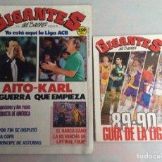 Coleccionismo deportivo: GIGANTES DEL BASKET Nº 203 SEPTIEMBRE 1989 GUIA DE LA LIGA 89-90 NUEVO. Lote 85883603