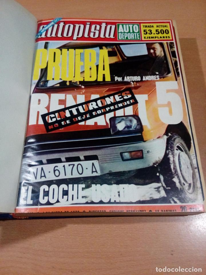 Coleccionismo deportivo: revista autopista - lote 17 revistas 1973 correlativas encuadernadas- ver fotos - leer - Foto 2 - 132977890