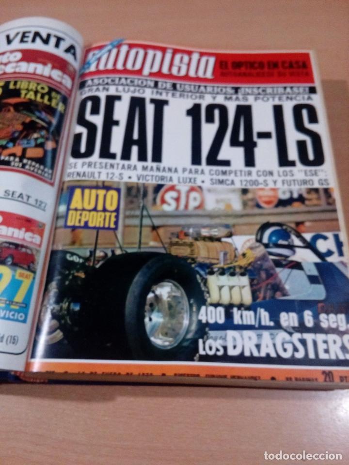 Coleccionismo deportivo: revista autopista - lote 17 revistas 1973 correlativas encuadernadas- ver fotos - leer - Foto 3 - 132977890