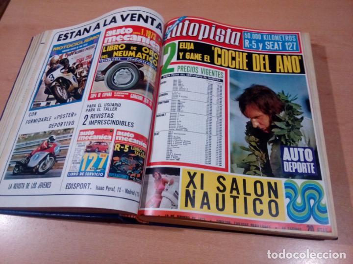 Coleccionismo deportivo: revista autopista - lote 17 revistas 1973 correlativas encuadernadas- ver fotos - leer - Foto 6 - 132977890