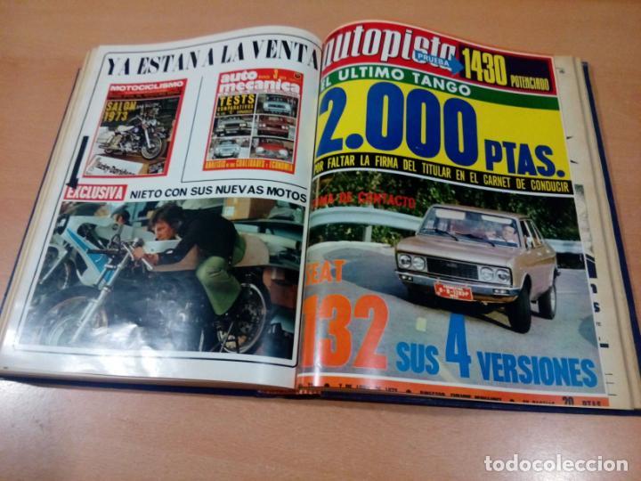 Coleccionismo deportivo: revista autopista - lote 17 revistas 1973 correlativas encuadernadas- ver fotos - leer - Foto 14 - 132977890