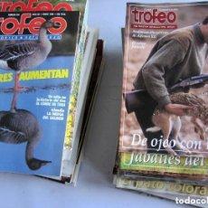 Coleccionismo deportivo: TROFEO. REVISTA CAZA, (PESCA, NATURALEZA) LOTE DE 69 EJEMPLARES ENTRE Nº 236 (1990) Y 331 (1997) VER. Lote 135812018