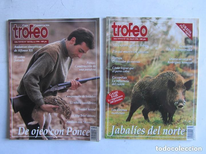 Coleccionismo deportivo: TROFEO. REVISTA CAZA, (PESCA, NATURALEZA) LOTE DE 69 EJEMPLARES ENTRE Nº 236 (1990) Y 331 (1997) VER - Foto 2 - 135812018