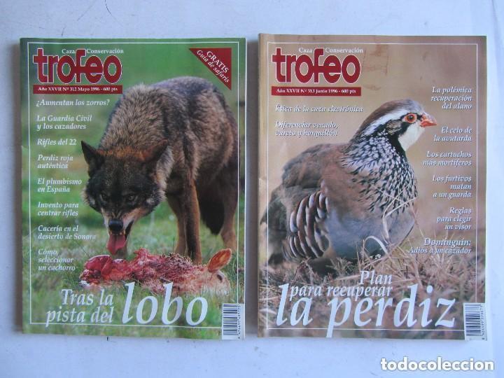 Coleccionismo deportivo: TROFEO. REVISTA CAZA, (PESCA, NATURALEZA) LOTE DE 69 EJEMPLARES ENTRE Nº 236 (1990) Y 331 (1997) VER - Foto 3 - 135812018
