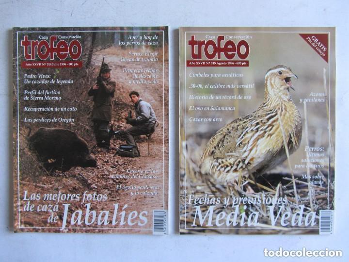 Coleccionismo deportivo: TROFEO. REVISTA CAZA, (PESCA, NATURALEZA) LOTE DE 69 EJEMPLARES ENTRE Nº 236 (1990) Y 331 (1997) VER - Foto 4 - 135812018