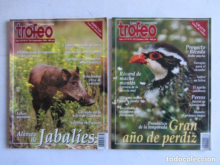 Coleccionismo deportivo: TROFEO. REVISTA CAZA, (PESCA, NATURALEZA) LOTE DE 69 EJEMPLARES ENTRE Nº 236 (1990) Y 331 (1997) VER - Foto 5 - 135812018