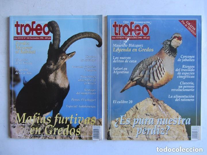 Coleccionismo deportivo: TROFEO. REVISTA CAZA, (PESCA, NATURALEZA) LOTE DE 69 EJEMPLARES ENTRE Nº 236 (1990) Y 331 (1997) VER - Foto 6 - 135812018