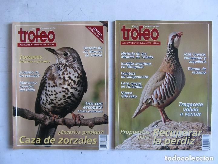Coleccionismo deportivo: TROFEO. REVISTA CAZA, (PESCA, NATURALEZA) LOTE DE 69 EJEMPLARES ENTRE Nº 236 (1990) Y 331 (1997) VER - Foto 7 - 135812018