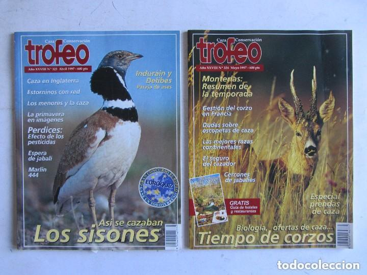Coleccionismo deportivo: TROFEO. REVISTA CAZA, (PESCA, NATURALEZA) LOTE DE 69 EJEMPLARES ENTRE Nº 236 (1990) Y 331 (1997) VER - Foto 8 - 135812018