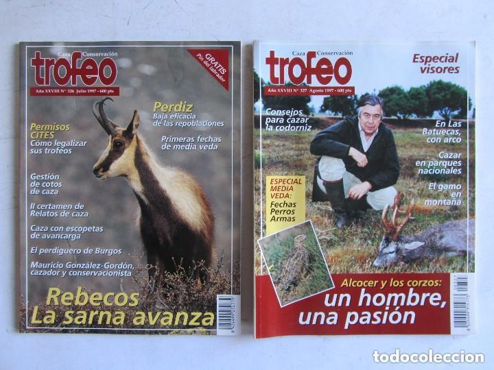 Coleccionismo deportivo: TROFEO. REVISTA CAZA, (PESCA, NATURALEZA) LOTE DE 69 EJEMPLARES ENTRE Nº 236 (1990) Y 331 (1997) VER - Foto 9 - 135812018