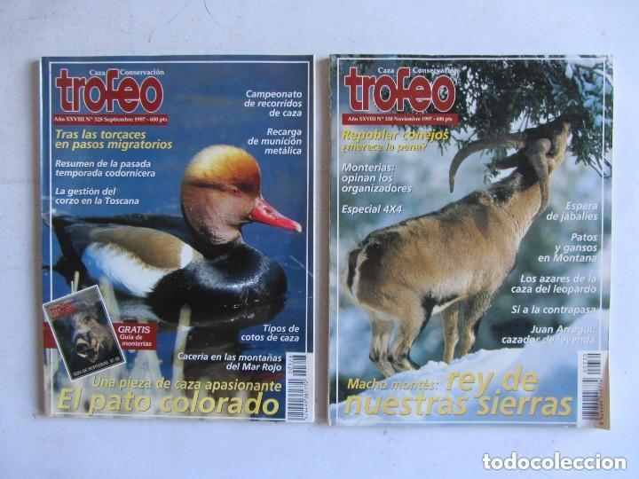 Coleccionismo deportivo: TROFEO. REVISTA CAZA, (PESCA, NATURALEZA) LOTE DE 69 EJEMPLARES ENTRE Nº 236 (1990) Y 331 (1997) VER - Foto 10 - 135812018