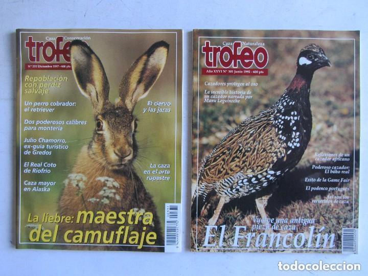 Coleccionismo deportivo: TROFEO. REVISTA CAZA, (PESCA, NATURALEZA) LOTE DE 69 EJEMPLARES ENTRE Nº 236 (1990) Y 331 (1997) VER - Foto 11 - 135812018
