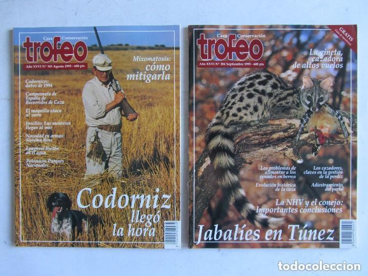 Coleccionismo deportivo: TROFEO. REVISTA CAZA, (PESCA, NATURALEZA) LOTE DE 69 EJEMPLARES ENTRE Nº 236 (1990) Y 331 (1997) VER - Foto 12 - 135812018