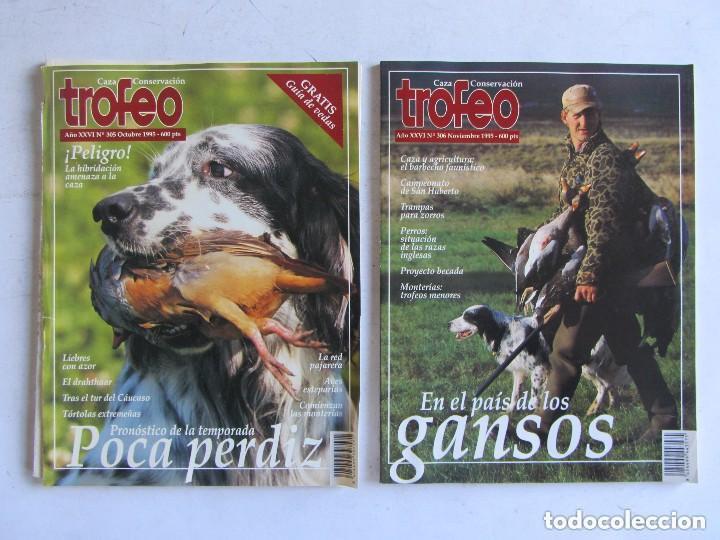 Coleccionismo deportivo: TROFEO. REVISTA CAZA, (PESCA, NATURALEZA) LOTE DE 69 EJEMPLARES ENTRE Nº 236 (1990) Y 331 (1997) VER - Foto 13 - 135812018