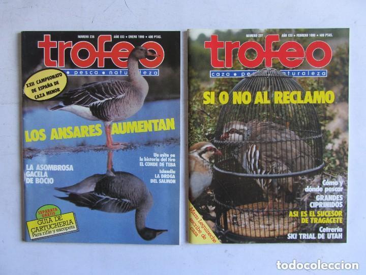 Coleccionismo deportivo: TROFEO. REVISTA CAZA, (PESCA, NATURALEZA) LOTE DE 69 EJEMPLARES ENTRE Nº 236 (1990) Y 331 (1997) VER - Foto 15 - 135812018
