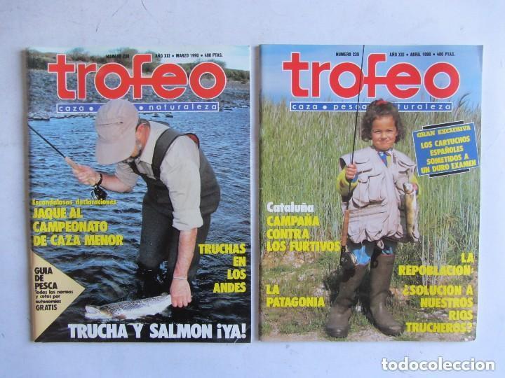 Coleccionismo deportivo: TROFEO. REVISTA CAZA, (PESCA, NATURALEZA) LOTE DE 69 EJEMPLARES ENTRE Nº 236 (1990) Y 331 (1997) VER - Foto 16 - 135812018