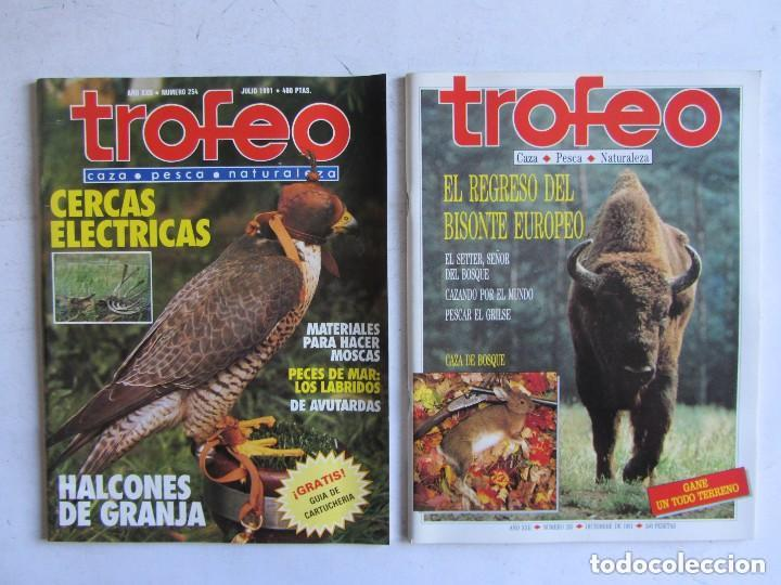 Coleccionismo deportivo: TROFEO. REVISTA CAZA, (PESCA, NATURALEZA) LOTE DE 69 EJEMPLARES ENTRE Nº 236 (1990) Y 331 (1997) VER - Foto 21 - 135812018