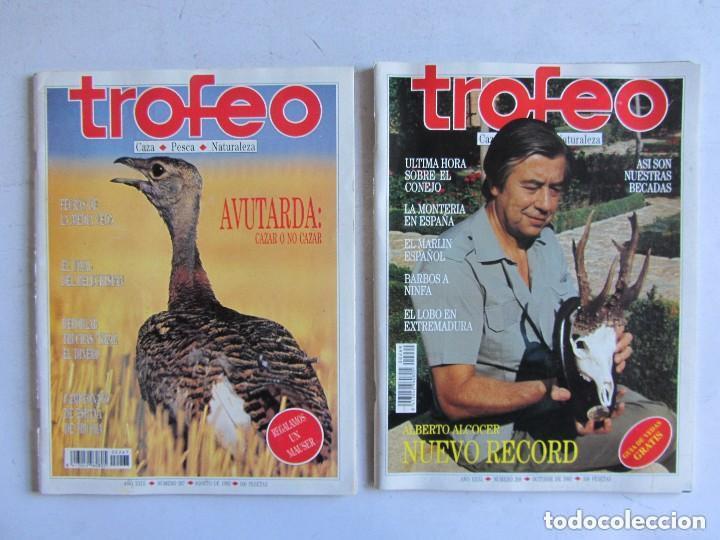 Coleccionismo deportivo: TROFEO. REVISTA CAZA, (PESCA, NATURALEZA) LOTE DE 69 EJEMPLARES ENTRE Nº 236 (1990) Y 331 (1997) VER - Foto 24 - 135812018