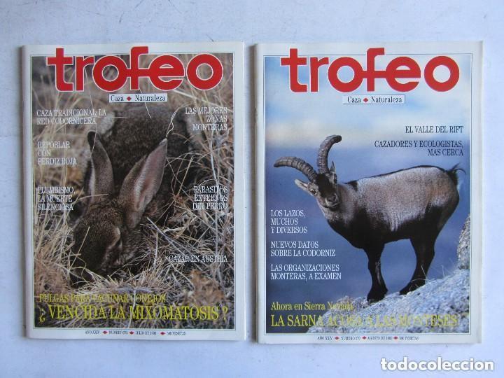 Coleccionismo deportivo: TROFEO. REVISTA CAZA, (PESCA, NATURALEZA) LOTE DE 69 EJEMPLARES ENTRE Nº 236 (1990) Y 331 (1997) VER - Foto 27 - 135812018
