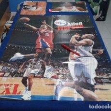 Coleccionismo deportivo: POSTER NBA REVISTA XXL BASKETBALL ( ALLEN IVERSON DE FILADELFIA ) VINTAGE GRANDE. Lote 136151946