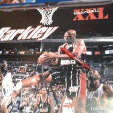 Coleccionismo deportivo: POSTER NBA REVISTA XXL BASKETBALL ( BARKLEY NUTMEG MILLS ) VINTAGE GRANDE. Lote 136152382