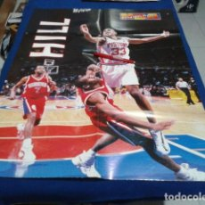 Coleccionismo deportivo: POSTER NBA PLAYOFFS TIME ( HILL PISTONS Nº 33 ) VINTAGE GRANDE. Lote 136152926