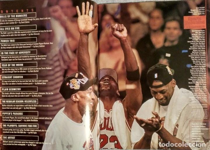 Coleccionismo deportivo: Michael Jordan - Revista Sports illustrated (1997) - Especial quinto anillo - NBA - Foto 2 - 76729867
