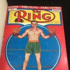 Coleccionismo deportivo: 6 REVISTAS SUELTAS THE RING BOXEO WRESTLING ENCUADERNADAS MEDIA PIEL CON NERVIOS 1934 A 1939. Lote 136691590