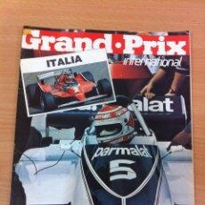 Coleccionismo deportivo: REVISTA F1 - GRAND PRIX INTERNATIONAL, Nº 12 (SEPTIEMBRE 1980) - GP ITALIA. INCLUYE COLECCIONABLE. Lote 136754082