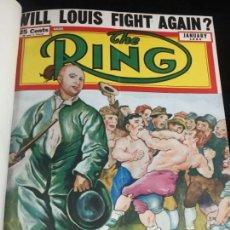 Coleccionismo deportivo: THE RING BOXEO WRESTLING 11 REVISTAS DEL AÑO 1950 ENCUADERNADAS PASTA DURA. Lote 136779342