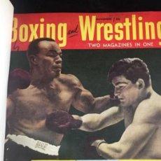 Coleccionismo deportivo: BOXING AND WRESTLING REVISTAS ENCUADERNADAS DE LOS AÑOS 1951 Y 1952 CONFORMAN LIBRO ROBUSTO. Lote 136782502