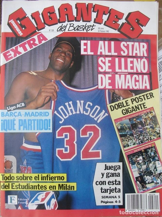Coleccionismo deportivo: Michael Jordan & Magic Johnson - Revista Oficial NBA y Gigantes del Basket - All-Star 1992 - Foto 6 - 53986252