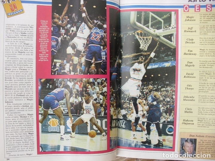 Coleccionismo deportivo: Michael Jordan & Magic Johnson - Revista Oficial NBA y Gigantes del Basket - All-Star 1992 - Foto 8 - 53986252
