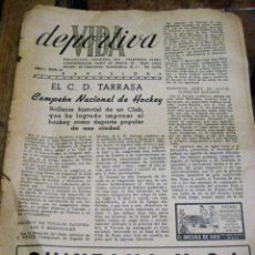 Coleccionismo deportivo: ANTIGUA REVISTA VIDA DEPORTIVA Nº 14 . CICLISMO FUTBOL HOCKEY TERRASSA 1945 DEFECTOS. Lote 138803574