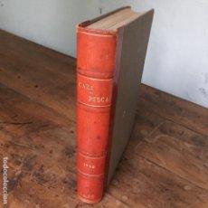 Coleccionismo deportivo: ANUARIO DE LA REVISTA CAZA Y PESCA, CALENDARIO MENSUAL ILUSTRADO DEL AÑO 1966, DEL 277 AL 288. Lote 138812782