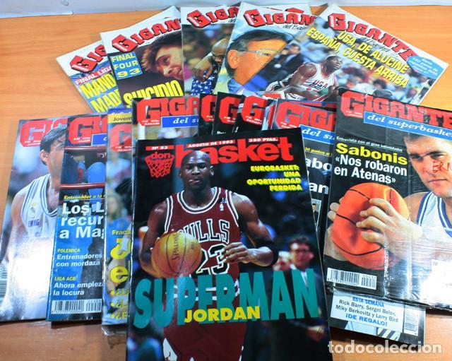 LOTE 16 REVISTAS BALONCESTO GIGANTES BASKET, SUPERBASKET Y DON BASKET 1992 A 1994, VER DESCRIPCION (Coleccionismo Deportivo - Revistas y Periódicos - otros Deportes)