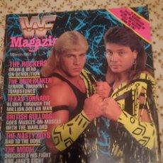 Coleccionismo deportivo: REVISTA WWF MAGAZINE - MARCH 1991 - THE ROCKERS - UNDERTAKER - BRITISH BULLDOG --REFM3E3. Lote 138917494
