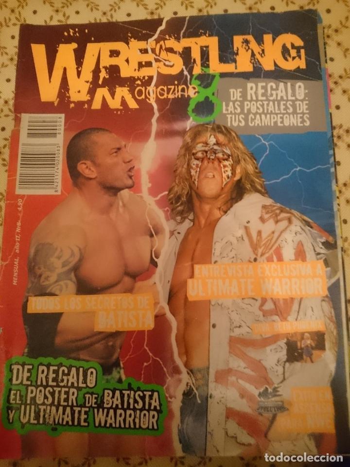 REVISTA WWF MAGAZINE - AÑO 11 N 8 - BATISTA - ULTIMATE WARRIOR - EN ESPAÑOL --REFM3E3 (Coleccionismo Deportivo - Revistas y Periódicos - otros Deportes)