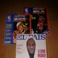 Coleccionismo deportivo: REVISTA OFICIAL BALONCESTO NBA NÚMERO 1 Y 45 MICHAEL JORDAN MAS SUPLEMENTO EL PAIS.. Lote 139368309