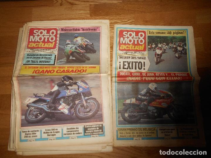 Coleccionismo deportivo: LOTE DE 24 REVISTA SOLO MOTO SOLO MOTO ACTUAL NºS DEL 386 AL 411 A FALTA DEL 394 AÑO 1983 - Foto 5 - 140430438