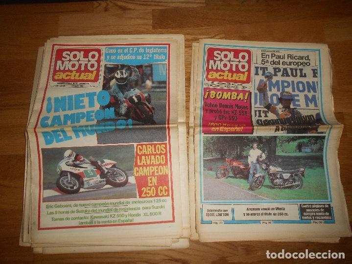 Coleccionismo deportivo: LOTE DE 24 REVISTA SOLO MOTO SOLO MOTO ACTUAL NºS DEL 386 AL 411 A FALTA DEL 394 AÑO 1983 - Foto 6 - 140430438
