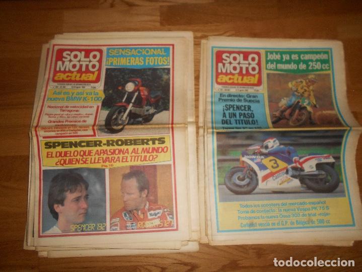 Coleccionismo deportivo: LOTE DE 24 REVISTA SOLO MOTO SOLO MOTO ACTUAL NºS DEL 386 AL 411 A FALTA DEL 394 AÑO 1983 - Foto 8 - 140430438